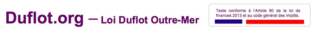 Loi Duflot Outremer